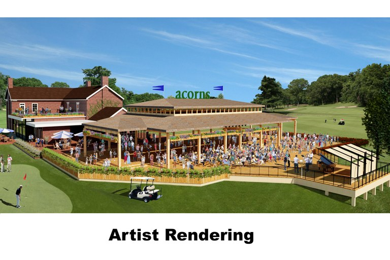 Acorns: 18 Hole Golf Course with Restaurant and Event Pavilion