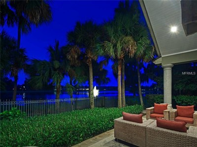 Lakefront Luxury Estate for Sale in Orlando Florida - Outside Seating Area