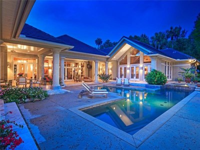 Lakefront Luxury Estate for Sale in Orlando Florida -  Pool Side
