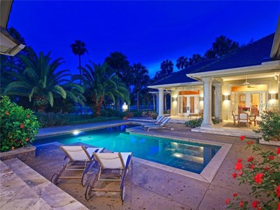 Lakefront Luxury Estate for Sale in Orlando Florida -  Pool Area View