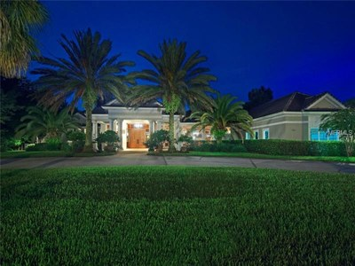 Lakefront Luxury Estate for Sale in Orlando Florida - Front Lawn